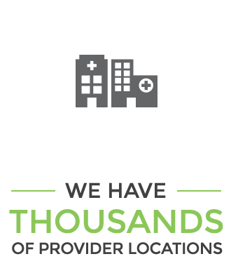 We have over 1000 provider locations